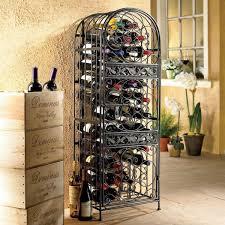 45 bottle antique floor wine rack