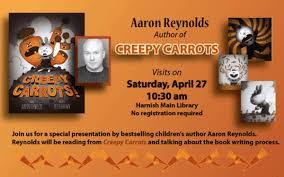 Aaron Reynolds, Creepy Carrots! author, to Visit the Algonquin Area Public  Library - Chicago Tribune