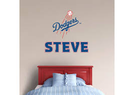 Boys Baseball Bedroom Los Angeles Dodgers Personalized Wall Decal Visit Us And Follow Us On Pinterest Boys Baseball Bedroom Baseball Bedroom Sports Room Boys