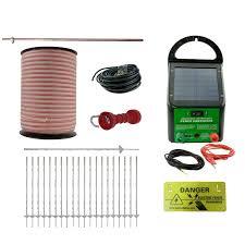 Electric Fence Kit Solar Energiser 20 Poly Posts 400m Tape Handle Earth Rod Etc Jono Johno