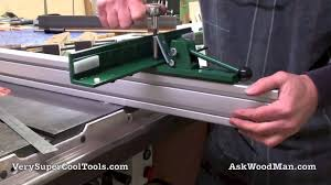 2 6 Adjustable Throat T Square Table Saw Fence Mounting The Fence On A 2 X2 Guide Rail Youtube