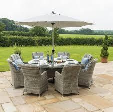 garden table set inset ice bucket