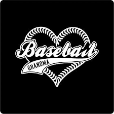 Amazon Com Baseball Heart Grandma Vinyl Decal Sticker For Window Car Truck Boat Laptop Iphone Wall Motorcycle Gaming Console Size 5 X 3 61 White Automotive