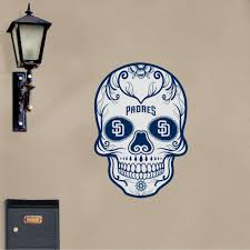 San Diego Padres Skull X Large Officially Licensed Outdoor Graphic Vinyl Decals Prints Wall Decals