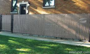 Chain Link Fence Gate With Privacy Slats Picture Interunet
