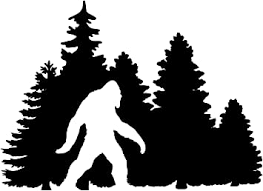 Amazon Com Minglewood Trading Black Bigfoot In Treeline Vinyl Sticker Yeti Trees Forest Camping Pine Forest Sasquatch 7w X 5h Inches Die Cut Decal Automotive