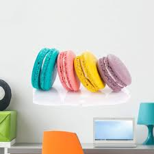 Amazon Com Wallmonkeys Colorful Macaron Cookies Wall Decal Peel And Stick Graphic Wm191069 24 In W X 16 In H Home Kitchen