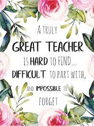 great teacher quote teacher farewell gift leaving gift idea