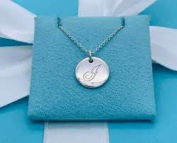letter initial silver pendant necklace