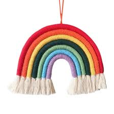 Shop Hand Knitted Rainbow Decoration Home Decoration Accessories Nordic Fresh Simple Kids Room Wall Decoration Hanging Online From Best Furniture And Decor On Jd Com Global Site Joybuy Com