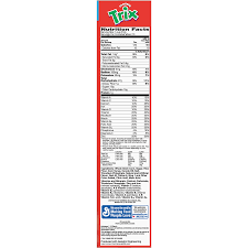 trix cereal fruit flavored corn puffs