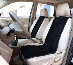 2 lambskin wool fleece car seat cover
