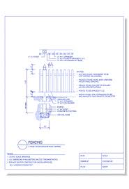Cad Drawings Of Wood Fences And Gates Caddetails