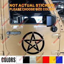 Pentagram Wiccan Pagan Car Decal Bumper Sticker Ebay