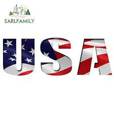Earlfamily 15cm X 5cm Usa Cutout Flag Decal Bumper Sticker Vinyl Car Truck Window America Us Car Styling Car Stickers Aliexpress