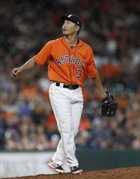 Astros' bullpen meltdown prompts Nori Aoki's pitching debut in ...