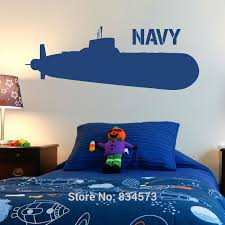 Hot Navy Ship Army Wall Art Sticker Decal Home Diy Decoration Decor Wall Mural Removable Bedroom Decal Stick Silhouette Wall Art Wall Stickers Sticker Wall Art