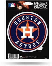 Amazon Com Mlb Houston Astros Medium Die Cut Decal Sports Fan Decals Sports Outdoors