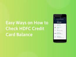 check hdfc credit card balance