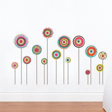 Jodhpur Colorful Pattern Lollipop Wall Sticker By Miaandcoadzif Wall Decals Flower Wall Decals Wall Decal Sticker