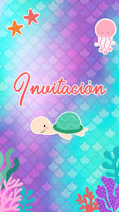Tarjeta De Invitacion Animada De Sirenas Para Whatsapp En 2020
