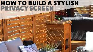 How To Build A Stylish Privacy Screen Youtube