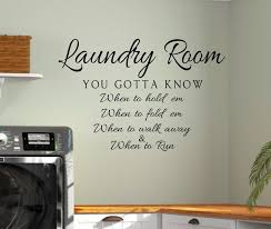 Wall Sticker Home Decor Iron Funny Vinyl Phrase Laundry Schedule Wall Decal