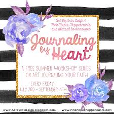 bible journaling pink paper peppermints she works her