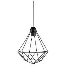 tees geometric ceiling pendant black
