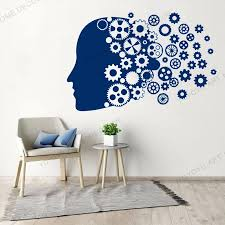 Abstract Brain Wall Stickers Teen Reading Room Mind Anatomy Vinyl Wall Decal Decor Living Room Large Wall Sticker Murals Jc214 Wall Stickers Aliexpress