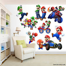 Super Mario Bros Room Decor Wall Decal Removable Sticker Ebay