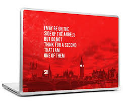 Buy Skin Stickers Online At Low Prices In India Sherlock Holmes Quote Side Of Angels Laptop Skin Postergully