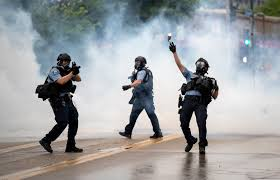 Protesters Clash In Clouds Of Tear Gas ...