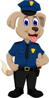 Cute Police Dog Cartoon Wall Decal Wallmonkeys Com