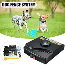 Wireless Electric Dog Fence System Waterproof Outdoor 2 Shock Collars Safety Shopee Malaysia