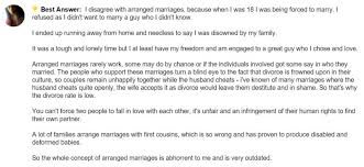 quotes on arranged marriage from unexpected sources