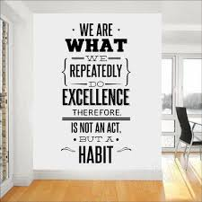 we are what we repeatedly do wall decal quotes office education