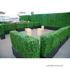 Artificial Boxwood Hedge Privacy Hedge Screen Uv Protected Faux Greenery Mats Boxwood Wall Suitable For Both