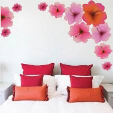 Hibiscus Flower Wall Decal Mural Removable Hawaii Flowers Wall Decor B American Wall Designs