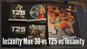 insanity max 30 vs insanity vs t25