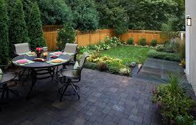 patio backyard attractive paver ideas
