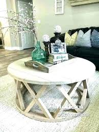 styling a round coffee table