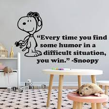 Amazon Com Snoopy Wall Decals Decal Winter Look Cuddly Peanuts Comics Charlie Brown Cartoon Character Vinyl Art Stickers For Toddler Baby Kids Rooms Bedrooms Decor Decoration For Nursery Size 16x20 Inch Home
