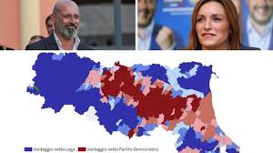 Elezioni regionali Emilia-Romagna, la mappa del voto città per città