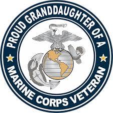 Amazon Com Us Marine Corps Veteran Proud Granddaughter Window Car Bumper Sticker Vinyl Decal 3 8 Automotive