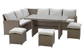 8 seater rattan effect corner sofa set