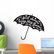 April Showers Bring May Flowers Umbrella Wall Decal Wallmonkeys Com