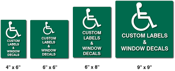 Ada Custom Self Adhesive Labels Or Window Decals Ada Sign Depot