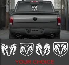 Dodge Ram Head Perfect Vinyl Decal Sticker For Your Trucks Rear Window White Ebay