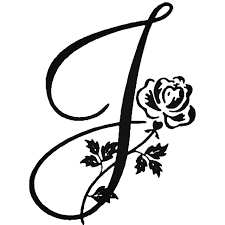 Floral Illustrated Letter J Decal Sticker